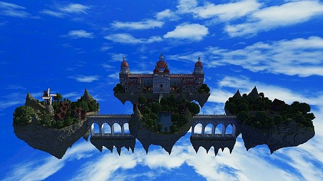 Palace of Life Floating castle minecraft building ideas 3