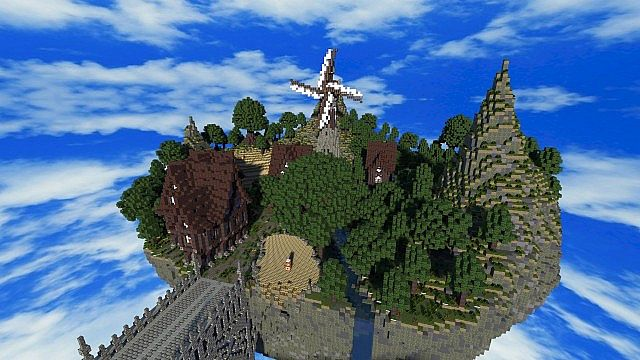 Palace of Life Floating castle minecraft building ideas 4