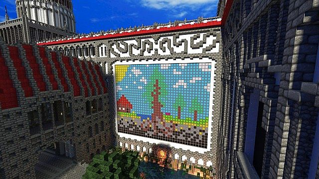 Palace of Life Floating castle minecraft building ideas 7
