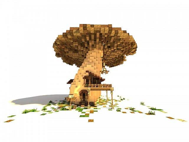 The Ol' Shroom Inn minecraft building ideas hotel house motel 2