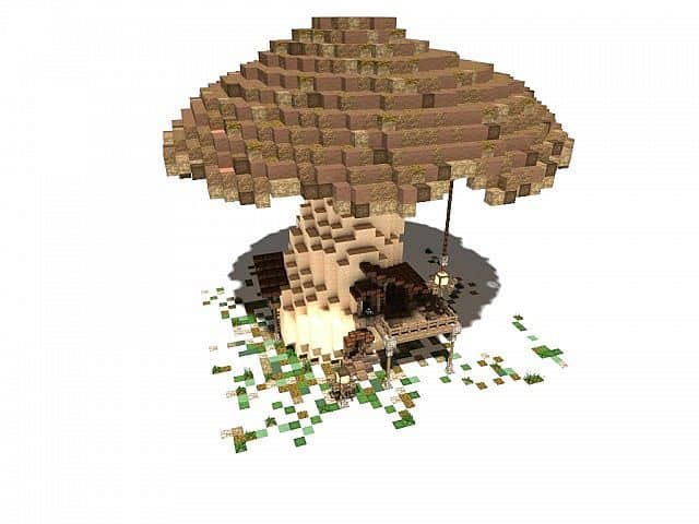 The Ol' Shroom Inn minecraft building ideas hotel house motel 3