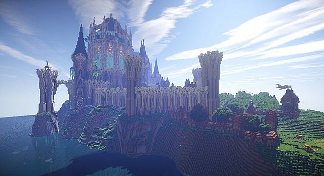 Cair Paravel minecraft castle building ideas 14