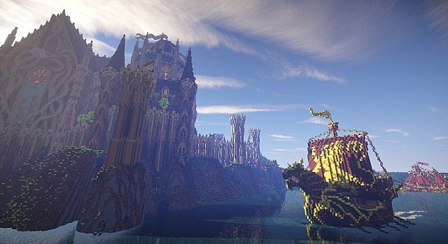 Cair Paravel minecraft castle building ideas 5
