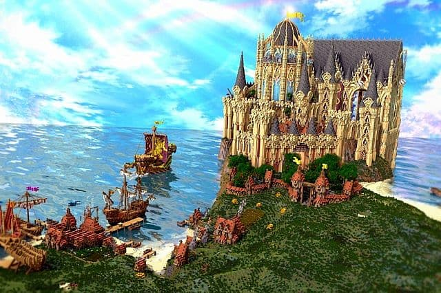 Cair Paravel minecraft castle building ideas