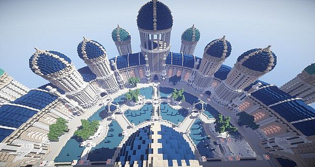 Castellum Romanorum Fantasy Roman spawn hub serer minecraft building ideas 10