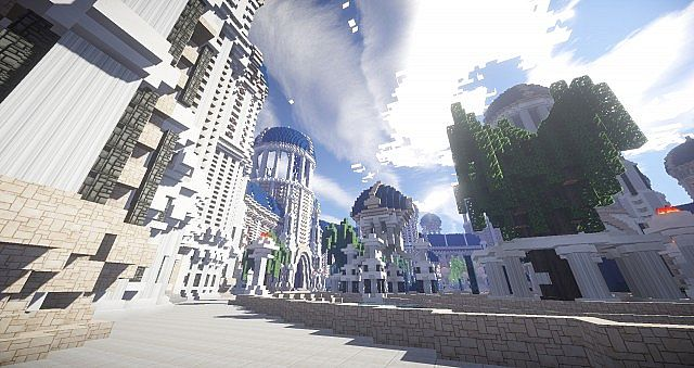 Castellum Romanorum Fantasy Roman spawn hub serer minecraft building ideas 3