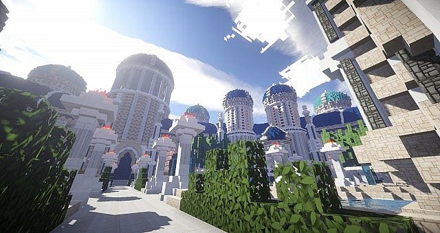 Castellum Romanorum Fantasy Roman spawn hub serer minecraft building ideas 4