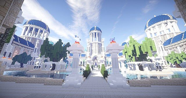 Castellum Romanorum Fantasy Roman spawn hub serer minecraft building ideas 6