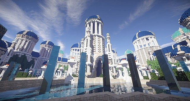 Castellum Romanorum Fantasy Roman spawn hub serer minecraft building ideas 7