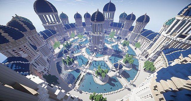 Castellum Romanorum Fantasy Roman spawn hub serer minecraft building ideas 9