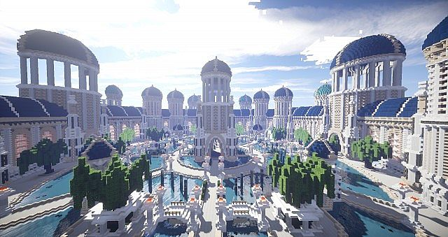 Castellum Romanorum Fantasy Roman spawn hub serer minecraft building ideas