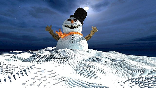Frosty the Snowman evil winter christmas minecraft building 3