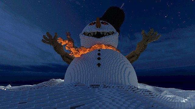 Frosty the Snowman evil winter christmas minecraft building 4