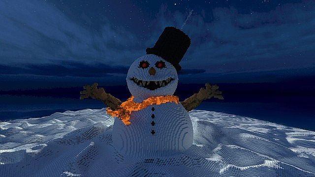 Frosty the Snowman evil winter christmas minecraft building 5