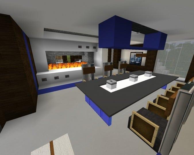 Mediterranean Beach House minecraft building idea home modern 15