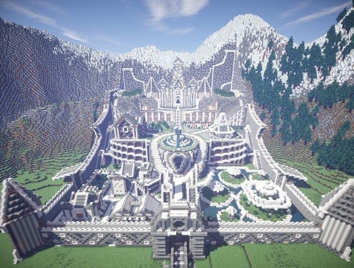 Residence in the mountains minecraft building inc for How to build a house in a mountain