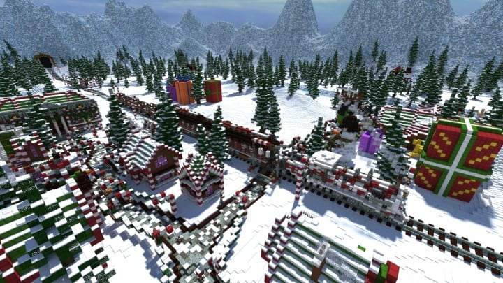 Santa's Gingerbread Christmas City download minecraft building ideas xmas snow 2