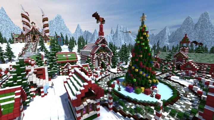 Santa's Gingerbread Christmas City download minecraft building ideas xmas snow 3