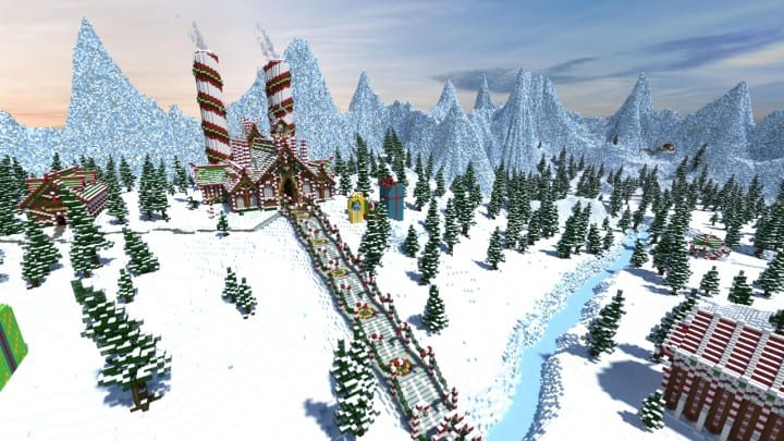 Santa's Gingerbread Christmas City download minecraft building ideas xmas snow 4