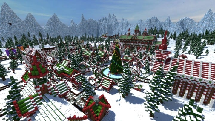 Santa's Gingerbread Christmas City download minecraft building ideas xmas snow 5