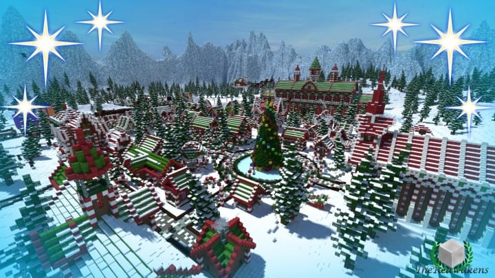 Santa's Gingerbread Christmas City download minecraft building ideas xmas snow