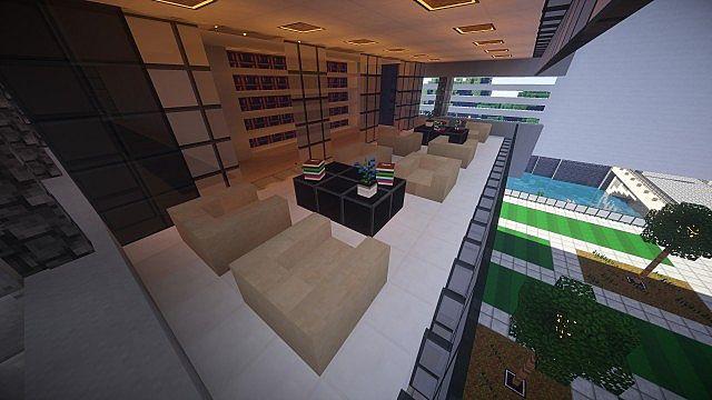 T E C P R O Culture Center WoK Minecraft building office modern ideas 12