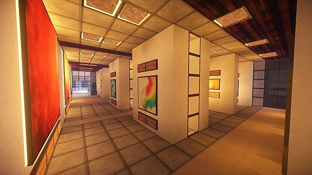 T E C P R O Culture Center WoK Minecraft building office modern ideas 13