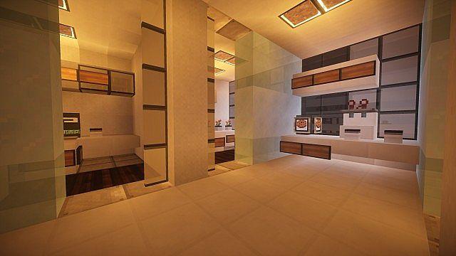T E C P R O Culture Center WoK Minecraft building office modern ideas 14