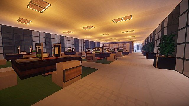 T E C P R O Culture Center WoK Minecraft building office modern ideas 16