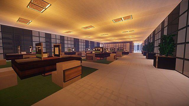 T E C P R O Culture Center WoK Minecraft building office modern ideas 16