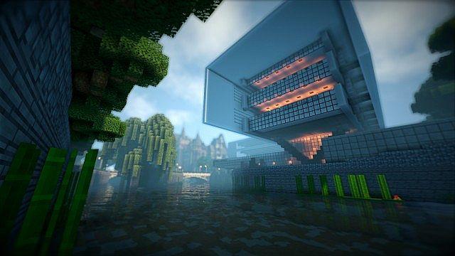 T E C P R O Culture Center WoK Minecraft building office modern ideas 2