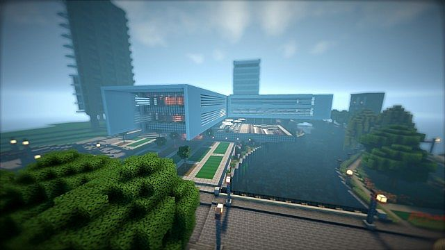 T E C P R O Culture Center WoK Minecraft building office modern ideas 3