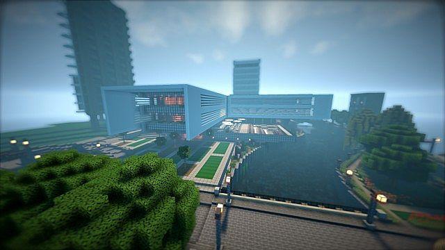 T E C P R O Culture Center WoK Minecraft building office modern ideas 3