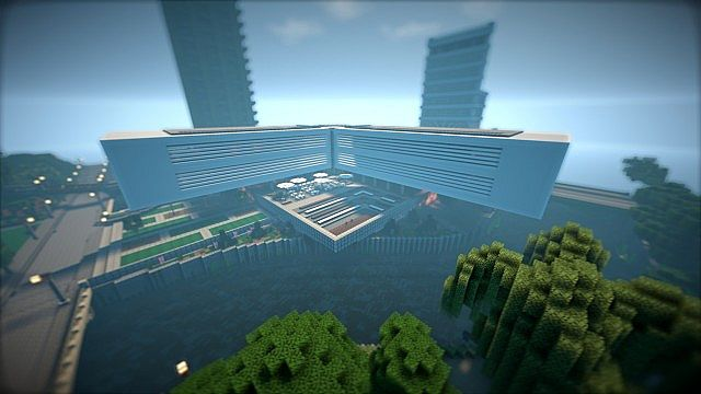 T E C P R O Culture Center WoK Minecraft building office modern ideas 4