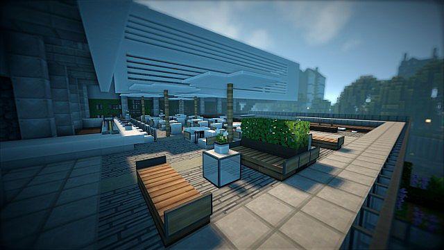 T E C P R O Culture Center WoK Minecraft building office modern ideas 5
