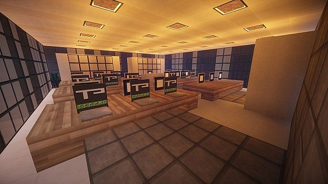 T E C P R O Culture Center WoK Minecraft building office modern ideas 6