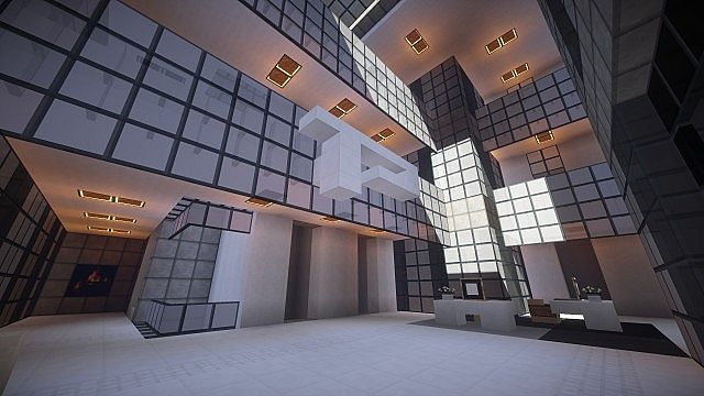 T E C P R O Culture Center WoK Minecraft building office modern ideas 7