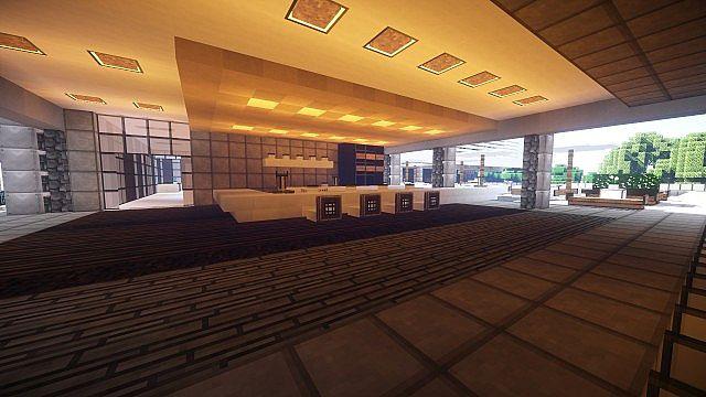 T E C P R O Culture Center WoK Minecraft building office modern ideas 8