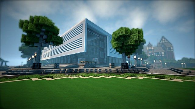 T E C P R O Culture Center WoK Minecraft building office modern ideas