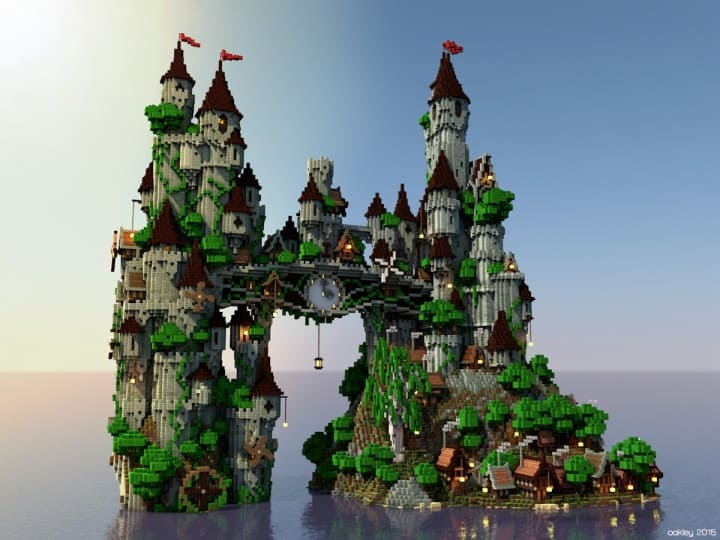 Clockwork isle castle minecraft building inc for Build a castle house