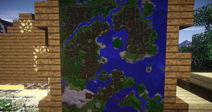 Large Medieval Village minecraft building ideas town city huge house water port 4