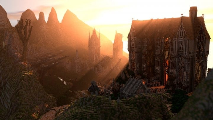 Remnants of a Forgotten World Download Minecraft building ideas city town walls 6