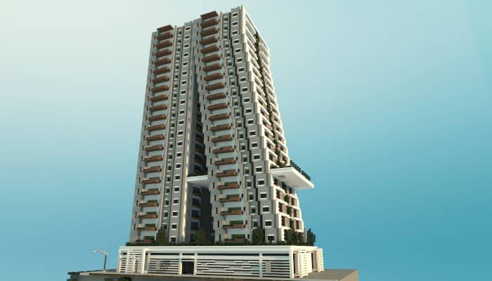 Tilt A Modern Apartment Building Minecraft Ideas Tower Skyser Huge