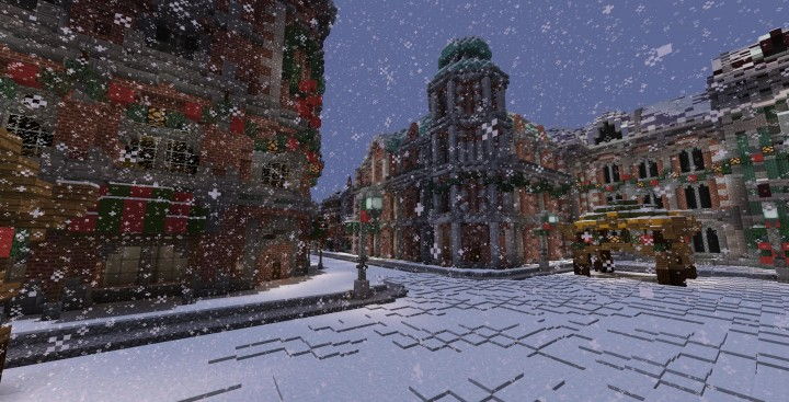 A Christmas ADVENTure 3 2014 minecraft building ideas mini game world snow 2
