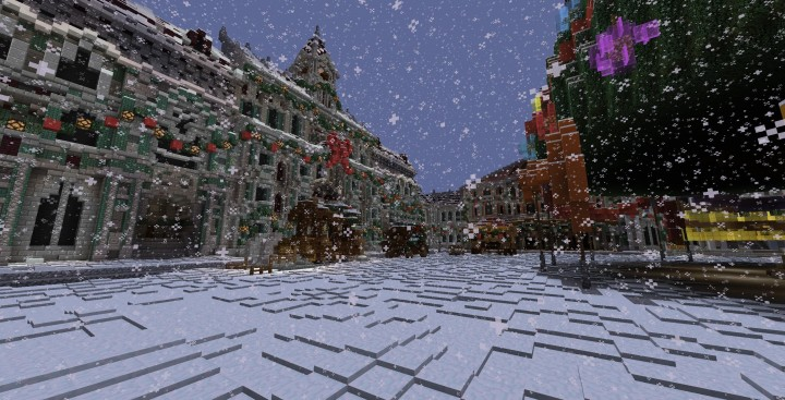 A Christmas ADVENTure 3 2014 minecraft building ideas mini game world snow