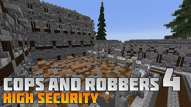 Cops and Robbers 4 High Security mini game minecraft building fun prison