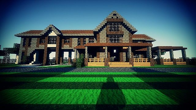 Country Home Ranch House farm minecraft building ideas 2 story 2