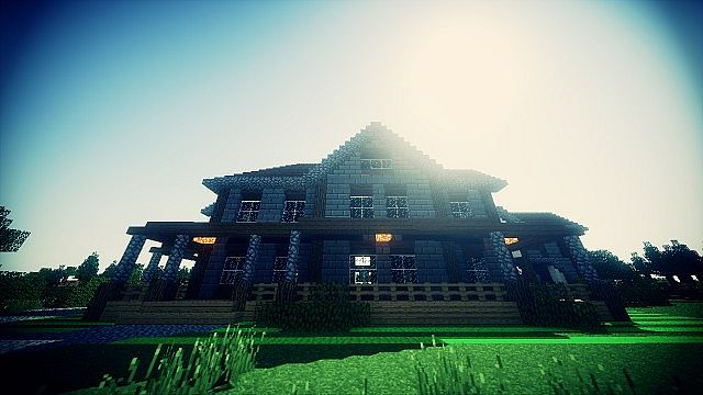 Country Home Ranch House farm minecraft building ideas 2 story 7