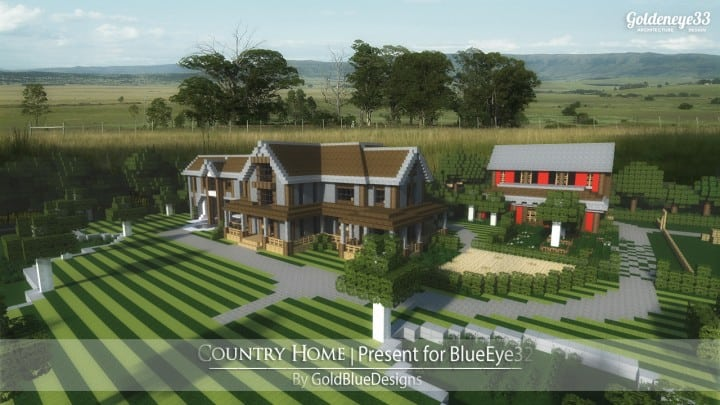 Country Home Ranch House farm minecraft building ideas 2 story