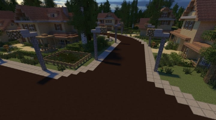 GREENVILLE idyllic village for download Map Schematics minecraft building ideas blueprints 10